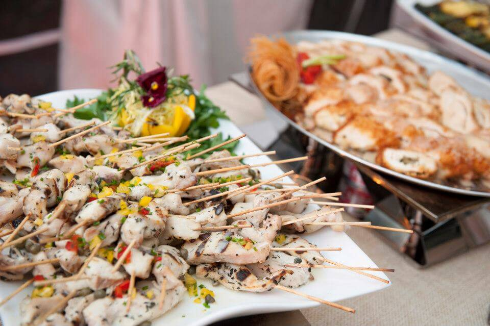 Main Event suggests serving your appetizers on sticks! They're great finger foods without the mess. Photo courtesy of Sweet Tea.