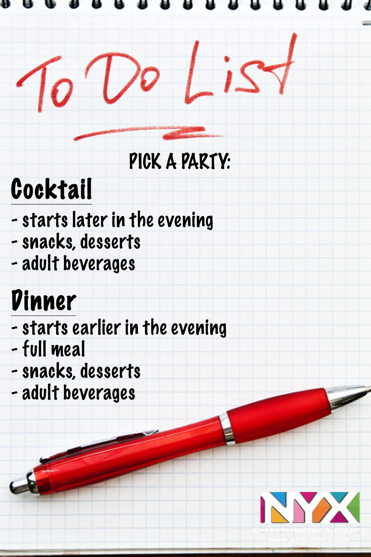 nyx entertainment events nyx to do list week one nyx