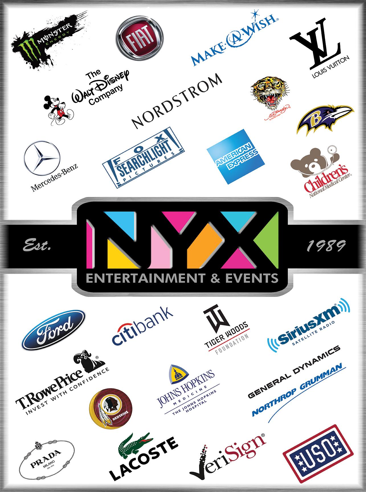 NYX Entertainment & Events Corporate Clients