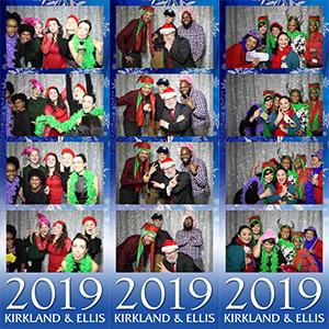 Kirkland & Ellis Holiday Photobooth