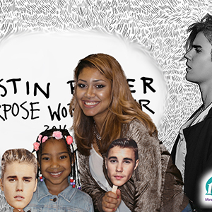 Justin Bieber Purpose Tour Photobooth